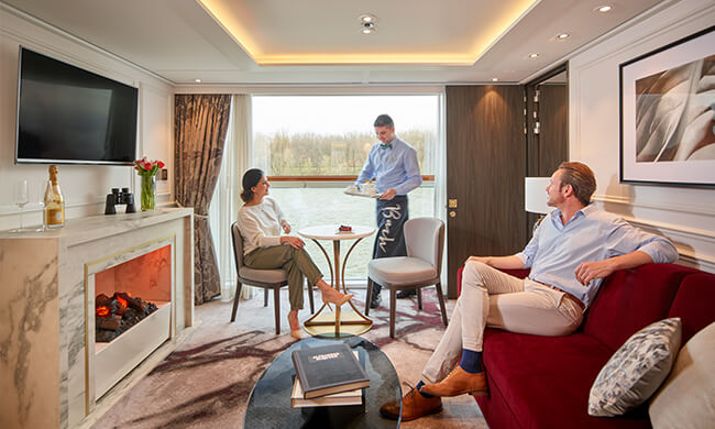 on board butler service - crystal cruises - room service
